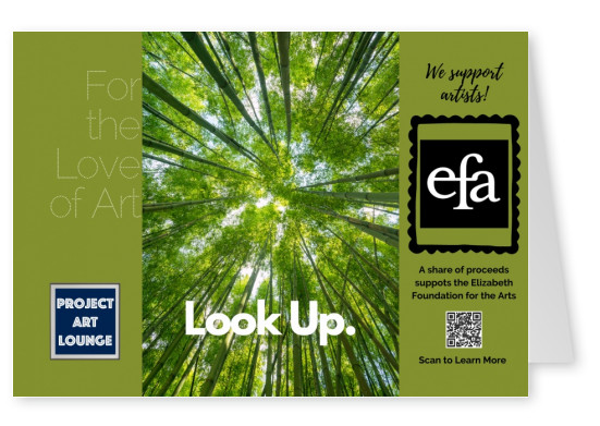Postkarte Project Art Lounge For the Love of Art We Support Artists Elizabeth Foundation for the Arts