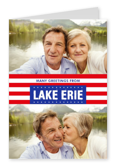 Lake Erie Grüße USA Flaggendesign