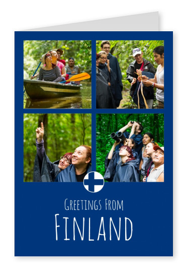 Postkarte Greetings from Finland