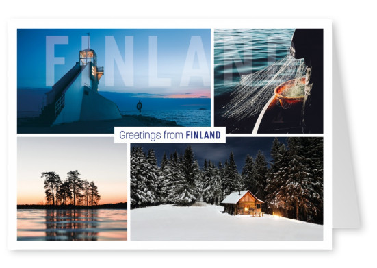 Fotocollage Finnlands Natur