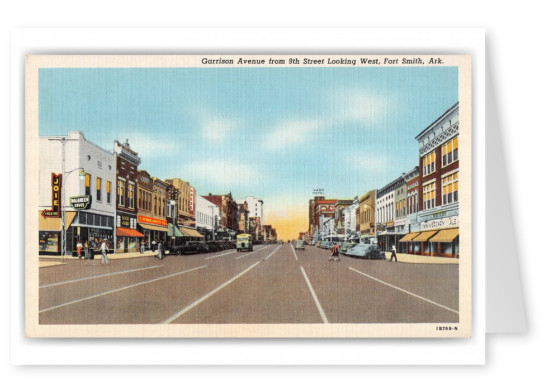 Fort Smith, Arkansas, Garrison Avenue from 9th street looking west
