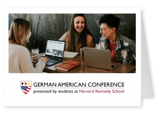 German American Conference photo postcard