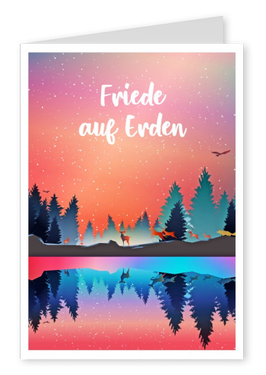 Illustration Wald Tiere bunt