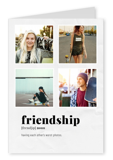 Postkarte friendship