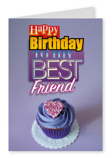 to my best friend postkarte muffin