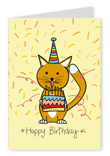 Happy Birthday Katze Illustration