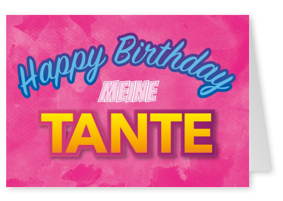 tante happy birthday geburtstags postkarte mypostcard
