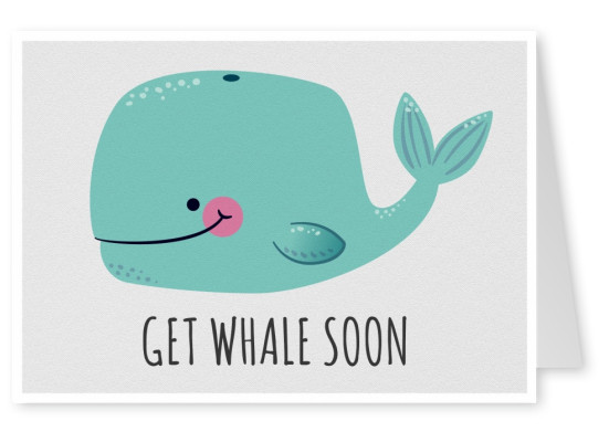 Illustration Wal get whale soon