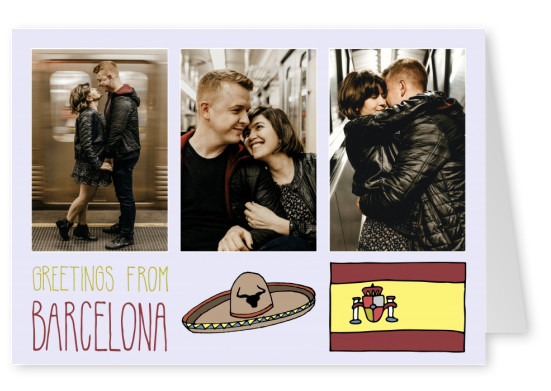 template mit Illustrationen von Barcelona