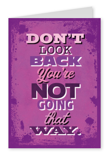 Bunte Illustration Grafik Papier bunt Vintage grunge Spruch Motivation