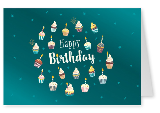 Postkarte Gutsch Verlag Happy Birthday