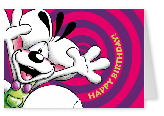 happy birthday cartoon diddl postkarte geburtstags gruess