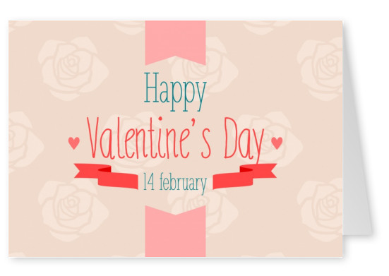 happy valentines day postkarte spruch
