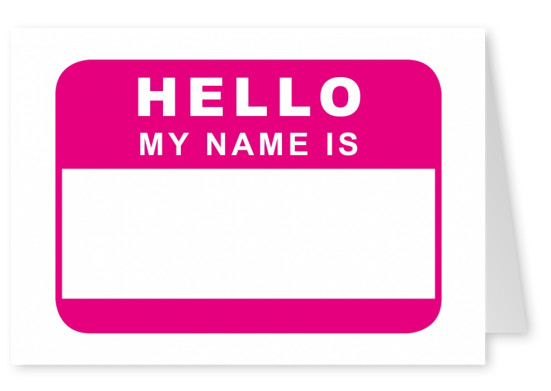 hello my name is pink