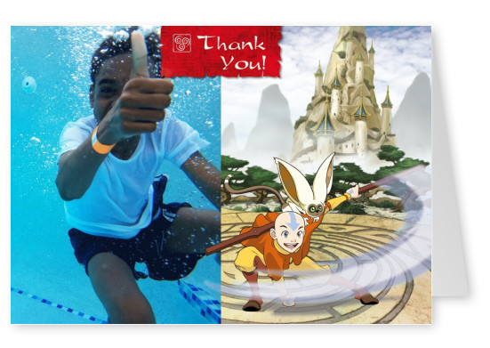 AVATAR: The Last Airbender Postkarte Thank you
