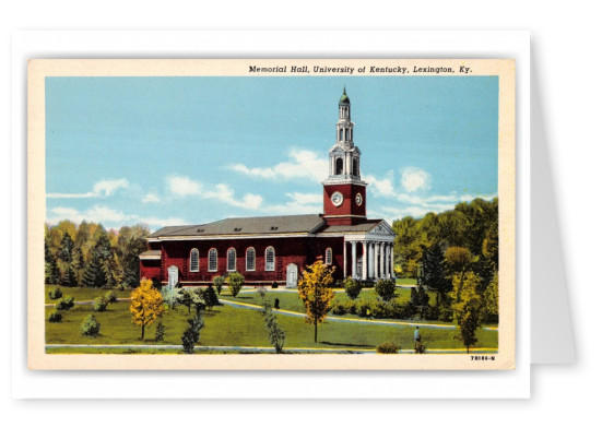 Lexington, Kentucky, Memorial Hall, Univeristy of Kentucky