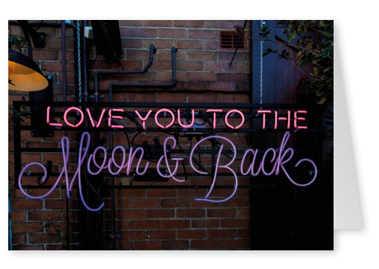 foto liebesspruch love you to the moon and back