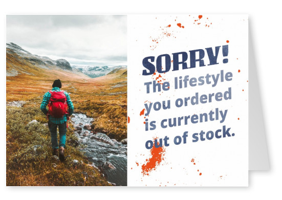 Sorry! The lifestyle you ordered is currently out of stock.