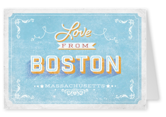 Vintage Postkarte Boston