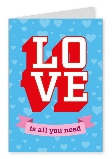 love is all you need vintage postkarte