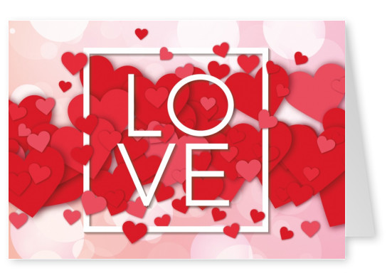 love postkarten design mypostcard