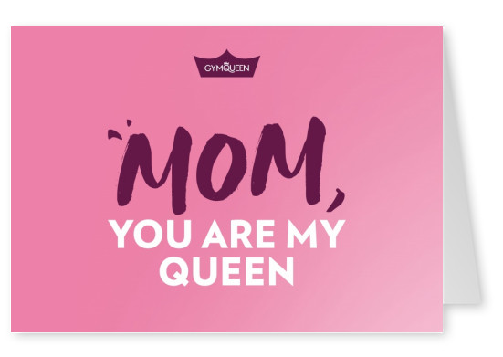 Postkarte GYMQUEEN Mom, you are my queen