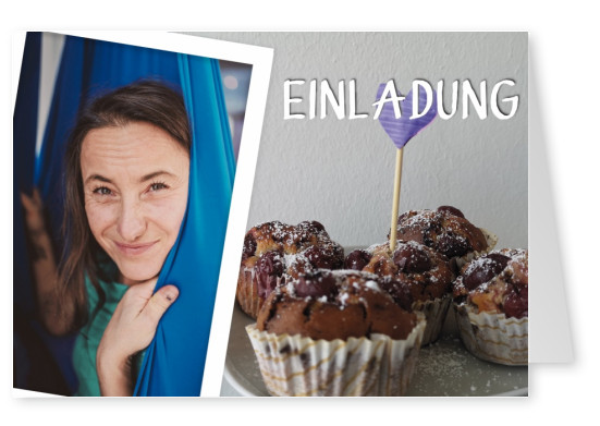 Over-Night-Design Einladung Muffin