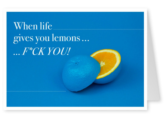 Spruch When life gives you lemons fuck you
