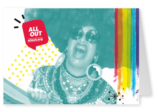 postkarte ALL OUT allout.org