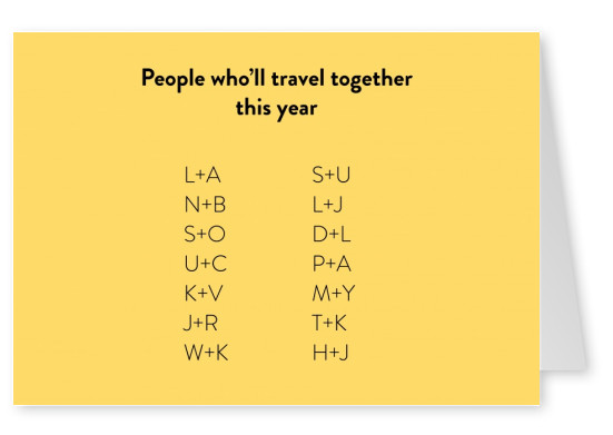 People who'll travel together this year