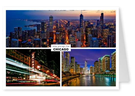 Dreier collage mit fotos aus chicago