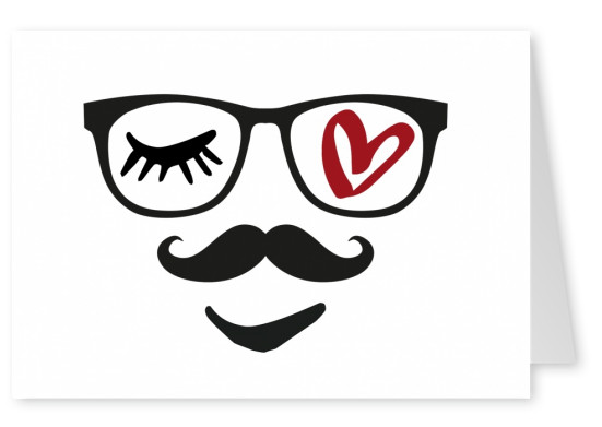 Illustration Eye love Brille