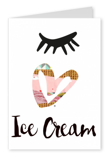 Illustration Eye love Eiscreme
