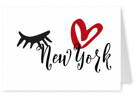Illustration Eye-love New York classic