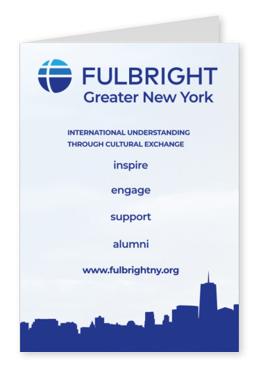 Fulbright association New York Postkarte