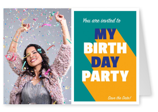 You are invited to my Birthday Party Karte