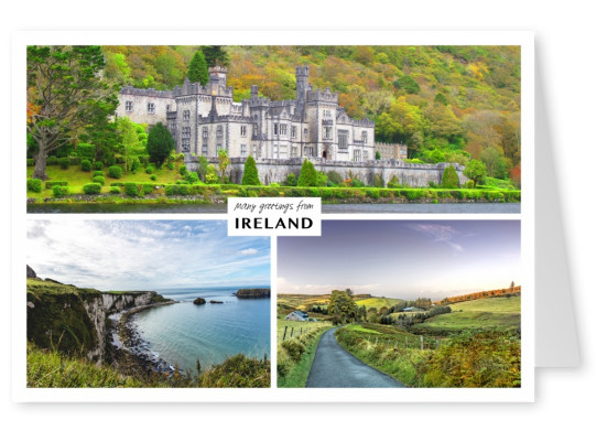 Dreier collage mit fotos aus irland