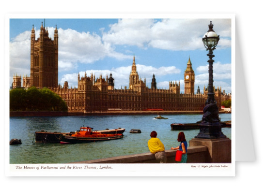 The John Hinde Archive Foto House of Parliament and River Thames