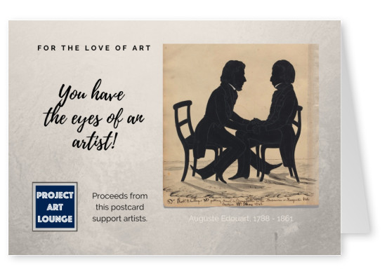 Postkarte Project Art Lounge For the love of Art Eyes of an artist