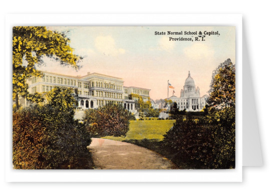 Providence, Rhode Island, State Normal School and Capitol
