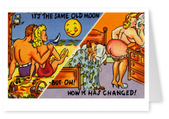 Curt Teich Postcard Archives Collection It's the same old moon but oh now it has changed