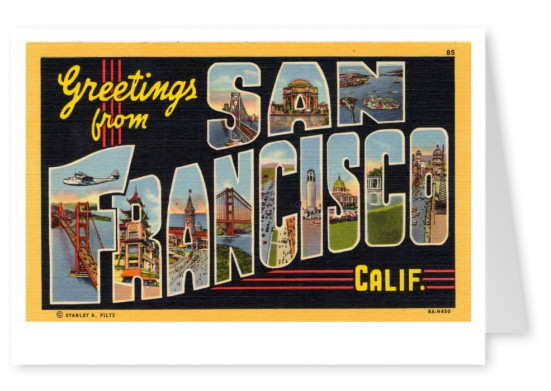 Curt Teich Postcard Archives Collection greetings from greetings from San Francisco