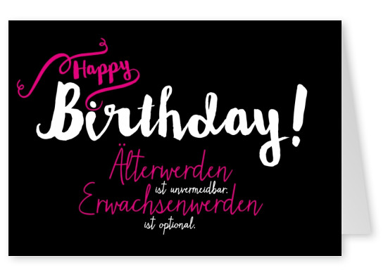 stylisches happy birthday postkarte