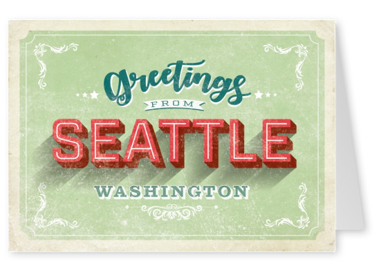 Vintage Postkarte Seattle