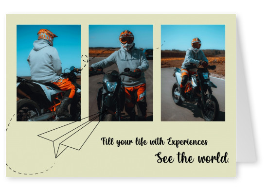 Postkarte Fill your life with experiences See the world