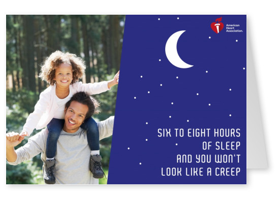 Card with quote