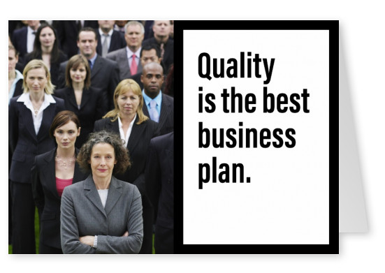 Spruch Quality is the best business plan