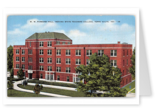 Terre haute, Indian, WW Parsons Hall, Indiana State Teachers College