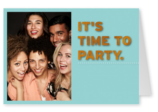 time-to-party-foto-grusskarte-online
