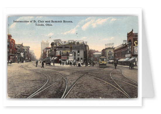 Toledo, ohio, Intersection of St. Clair and Summit Streets